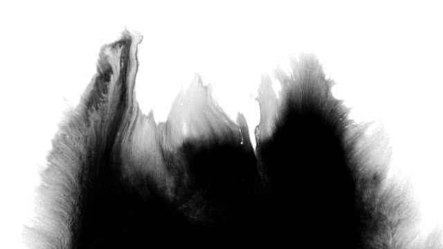 abstract ink splash spreads across the screen - high contrast stock videos & royalty-free footage