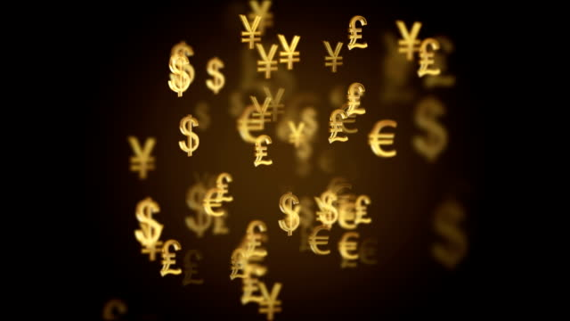 abstract international currency symbol motion background - currency symbol stock videos & royalty-free footage