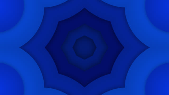 abstract kaleidoscope background - loopable - three dimensional stock videos & royalty-free footage