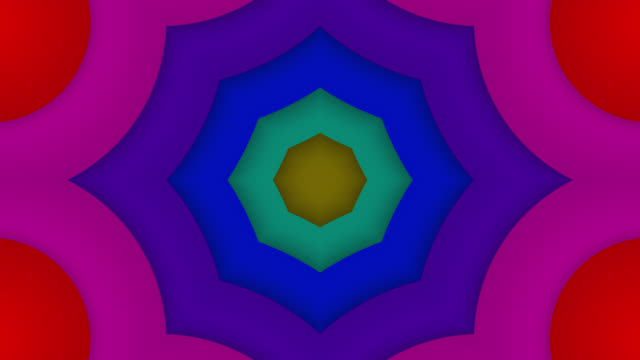 abstract kaleidoscope background - loopable - video jockey stock videos & royalty-free footage
