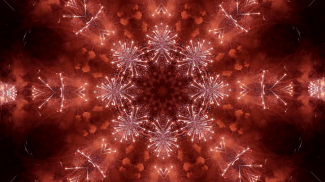 Abstract kaleidoscope background of fireworks