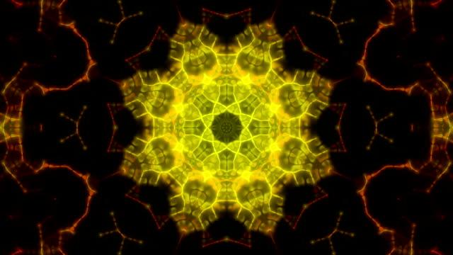 抽象的な万華鏡ループ背景 - フラクタル点の映像素材/bロール