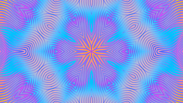 abstract kaleidoscope mosaic floral blue purple animation background - digital enhancement stock videos & royalty-free footage