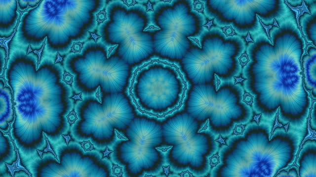 abstract kaleidoscope mosaic flower blue green background animation - digital enhancement stock videos & royalty-free footage