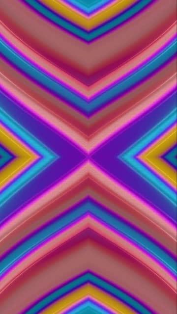 vídeos de stock, filmes e b-roll de abstract kaleidoscope multicolored motion iridescent background - rombo