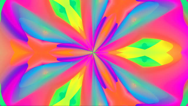 abstract kaleidoscope rainbow multi-coloured background animation - digital enhancement stock videos & royalty-free footage