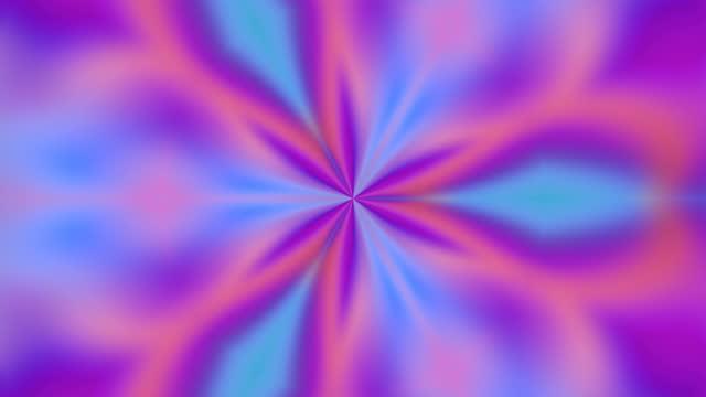 abstract kaleidoscope rainbow multi-coloured background animation - digital enhancement stock videos & royalty-free footage