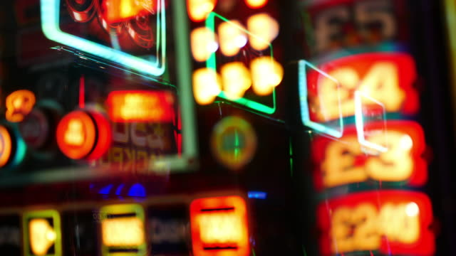 4k abstract light in casino, london - casino lights stock videos & royalty-free footage