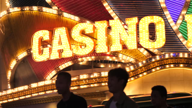 4k abstract light in casino - casino icon stock videos & royalty-free footage