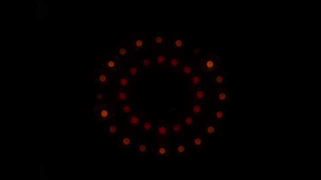 abstract light pattern sequence on black background; 1978 - 1978 stock videos & royalty-free footage