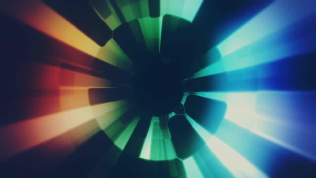 vídeos de stock, filmes e b-roll de linhas abstratas que fluem o laço da animação do fundo - ilusão