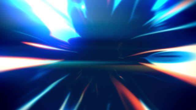 バックグラウンド アニメーション ループを流れる抽象線 - 歪曲点の映像素材/bロール