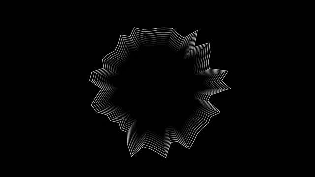 vidéos et rushes de modèle abstrait de promo de logo des cercles ou de la boîte blanche d'information et de la buble pour le texte avec l'effet du déplacement blanc propres anneaux d'animation arrière-plan abstrait pour la présentation d'affaires boucle transpare - but égalisateur