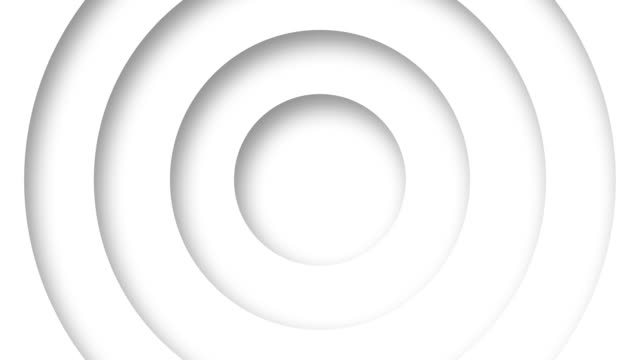 abstract logo promo pattern of circles with the effect of displacement white clean rings animation abstract background for business presentation seamless loop 4k  render
