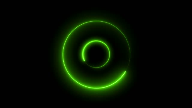 abstract loop circle tunnel background with green light effect - music video stock videos & royalty-free footage