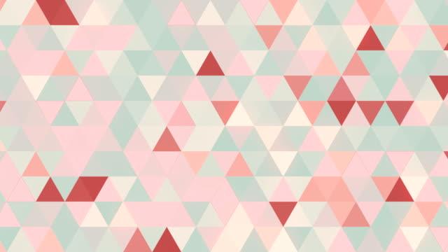 vídeos y material grabado en eventos de stock de patrón geométrico abstracto animacion loopable. fondo moderno con formas triangulares frescos. render 3d. 4k uhd - imagen minimalista