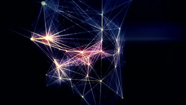 abstract loopable connections background - immagine in movimento in loop video stock e b–roll