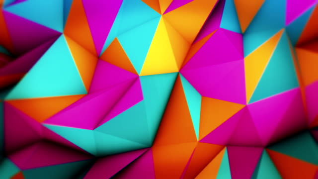abstract loopable triangles - multi coloured stock videos & royalty-free footage