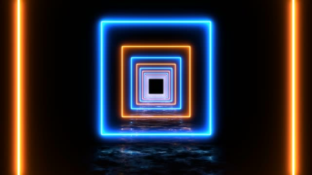 abstract looped square background disco tunnel - infinity stock videos & royalty-free footage