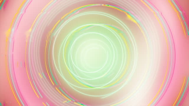 abstract looping spiral, circles, glitch background - deep learning stock videos & royalty-free footage