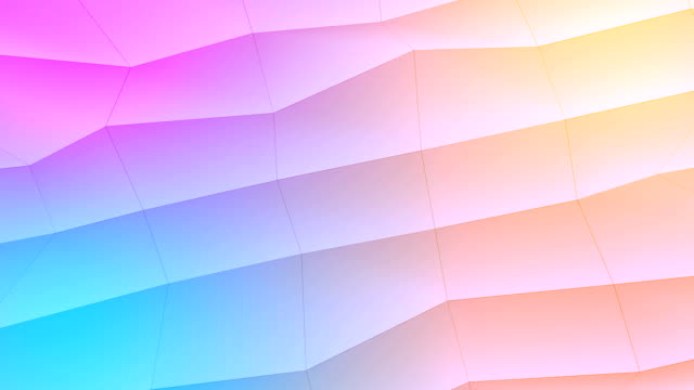 vídeos de stock e filmes b-roll de abstract low-poly colorful element design background - cores