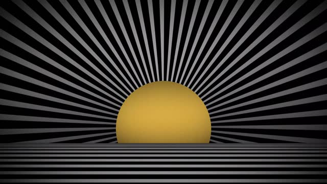 abstract luxury black and white zebra pattern with the sun in a tunnel background stock video - illusion stock videos & royalty-free footage