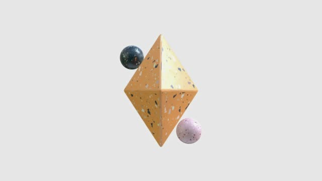 abstract marble shape 3d rendering motion graphic - design element stock videos & royalty-free footage