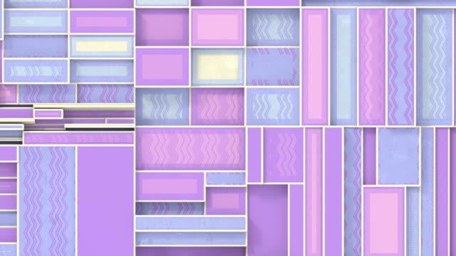 幾何学的形状の抽象的な機械的動き。3d レンダリングシームレス ループ アニメーション。hd解像度 - 投影図点の映像素材/bロール