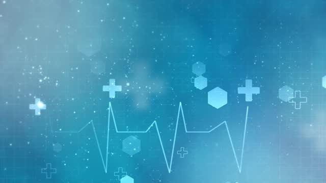 Abstract medical background with flat icons and symbols Loop Animation Background.