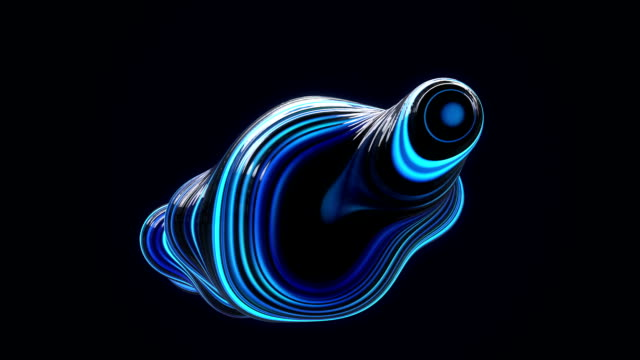abstract metaball background blue - geometry stock videos & royalty-free footage