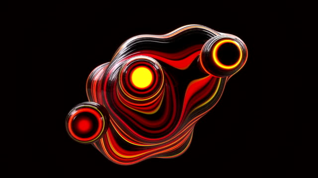 abstract metaball background red - psychedelic stock videos & royalty-free footage