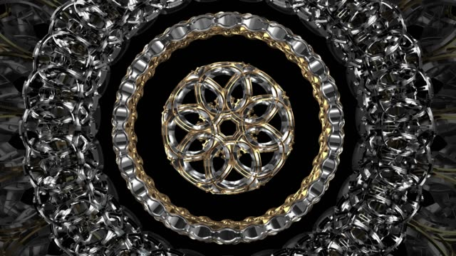 abstract metal circle twisted shape seamless loop animation, abstract engine spiral. - silber stock-videos und b-roll-filmmaterial