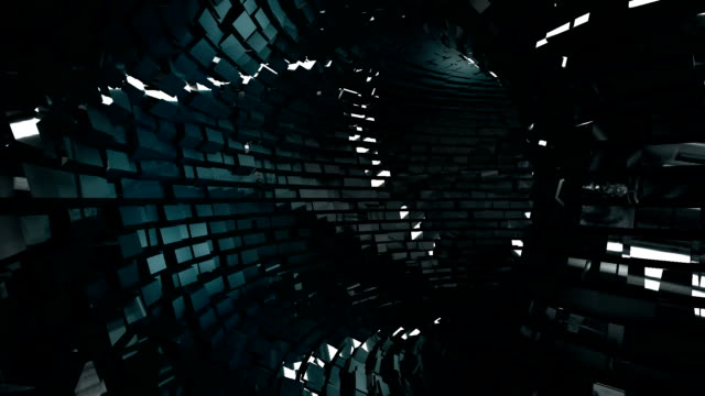 abstract metallic tunnel background - cube stock videos and b-roll footage
