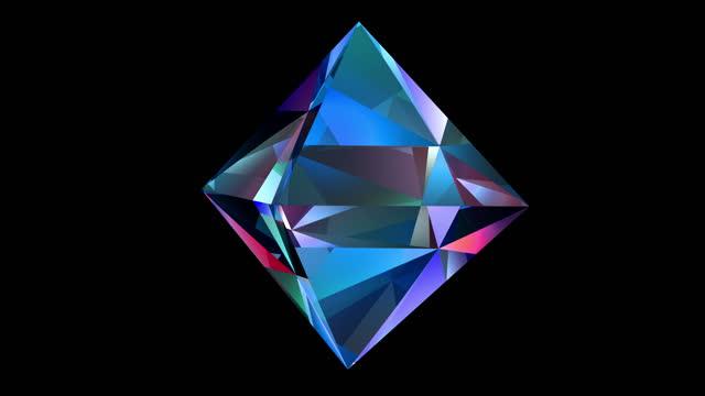 abstract modern background 4k loop - crystal stock videos & royalty-free footage