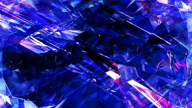 abstract modern background 4k loop - kristall bildbanksvideor och videomaterial från bakom kulisserna