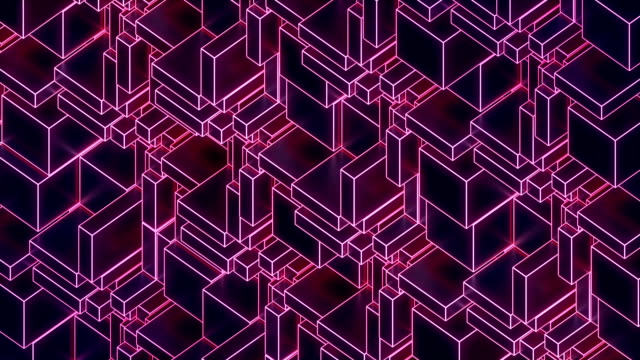 abstract modern glowing pink wire background move. 3d rendering - repetition stock videos & royalty-free footage