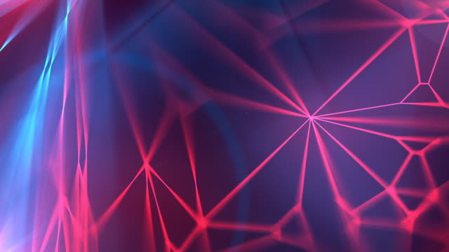 abstract modern red and blue glowing wire background loopable animation. 3d rendering - multi colored background stock videos and b-roll footage