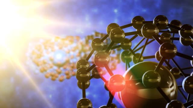 抽象的な分子構造 - high scale magnification点の映像素材/bロール