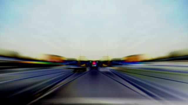 autostrada astratto time-lapse. hd - m25 video stock e b–roll