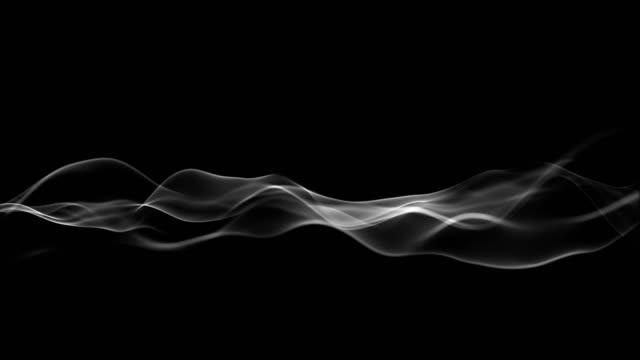 vidéos et rushes de abstrait mouvement forme d'onde de particules colorées, fond de concept de technologie - circonvolution