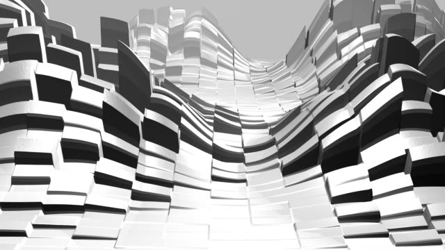 abstract moving cube mountain, 3d rendering - gruppo di oggetti video stock e b–roll