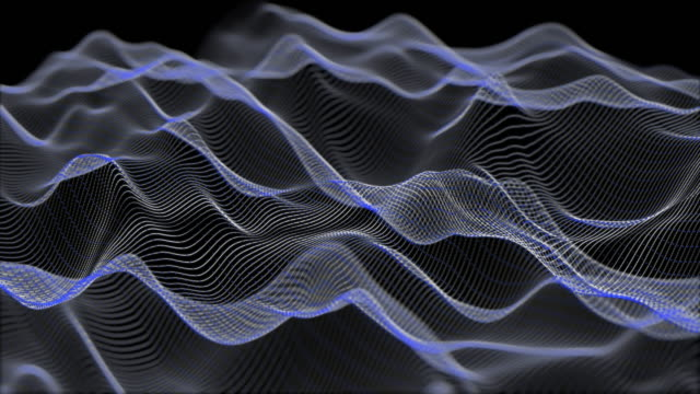 abstract moving particle wave form, technology concept background - digital animation stock videos & royalty-free footage