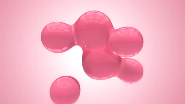 Abstract moving spheres with alpha pink
