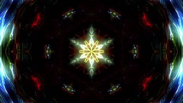 抽象的なマルチ色万華鏡 - フラクタル点の映像素材/bロール