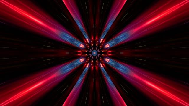 vidéos et rushes de kaléidoscope coloré abstrait multi - psychédélique