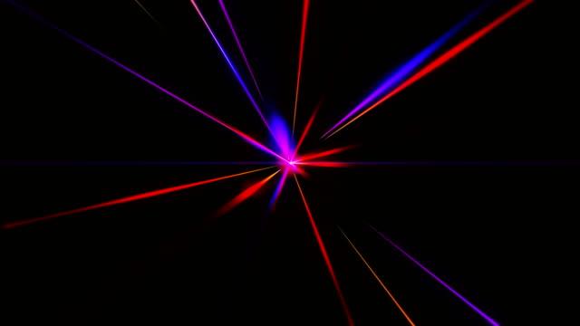 raggi laser multicolore astratti - dissolvenza in apertura video stock e b–roll
