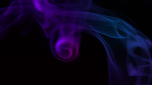 4k slow-mo: abstract multicolored smoke - purple stock videos & royalty-free footage
