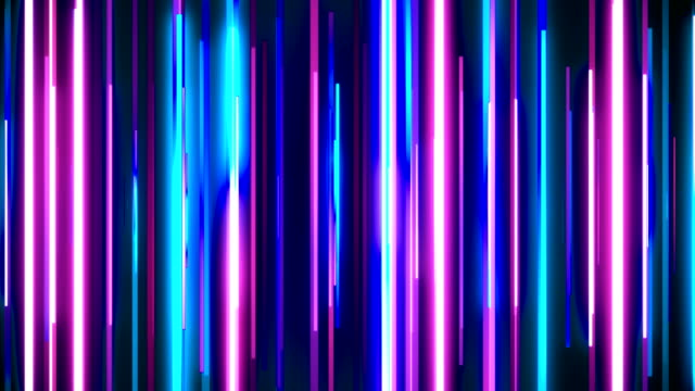 Abstract neon blue and purple glowing lines loopable background