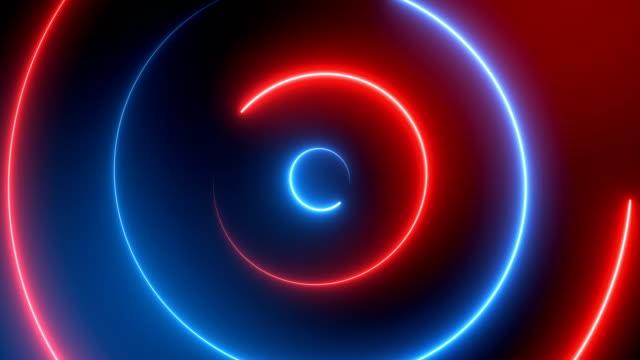 stockvideo's en b-roll-footage met abstracte neon cirkels (loopbare) - laser