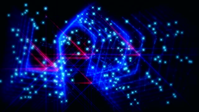 abstract neon fantasy background - light natural phenomenon stock videos & royalty-free footage
